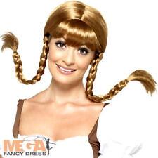 Bavarian Ladies Wig Fancy Dress Oktoberfest Plaited Pigtails Costume Accessory