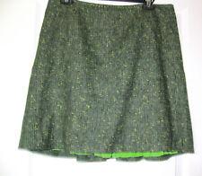 Ellie Tahari green speckled wool blend skirt size 8