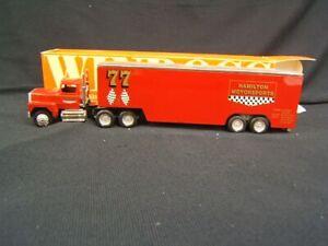 Winross Hamilton Motorsports Transporter Tractor Trailer MIB 1/64