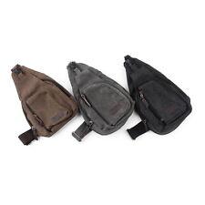 Man Canvas Zipper Flap Shape Messenger Shoulder Bag Customized Outdoor Sports NC
