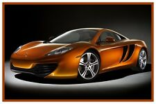 "MCLAREN MP4-12C POSTER 12"" x 18"" - EXOTIC SPORTS CARS"