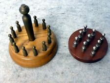2 Spiele mit Mini Kegeln aus Edelstahl / Messing für Auslosung Verlosung Kegeln