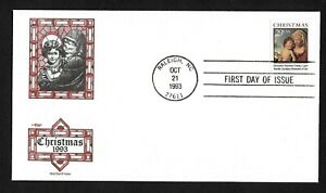 #2790 29c Christmas '93  Madonna & Child -Artmaster FDC Booklet Single