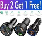 2 3 4 Port USB Fast Car Charger PD Adapter for Samsung iPhone Android Cell Phone
