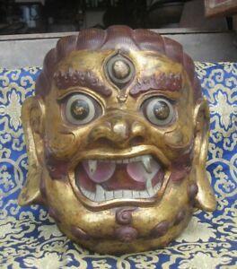 Antique Master Quality 18th Century Mahakal Bodhisatva Head, Nepal