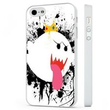 Rey Boo Super Mario Nintendo Funda de teléfono blanco encaja iPHONE