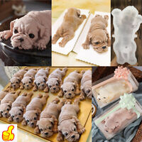 3D Dog Shape Silicone Mold Mousse Cake Chocolate Jelly Decoration Baking Mould