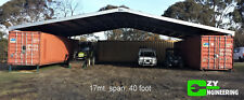 Ezy Roof kit. 17 metre span. 40 foot container.  Zinc roofing
