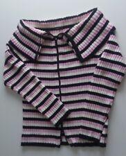 Maglione donna a righe, rosa bianco nero, tg L, marca Reds
