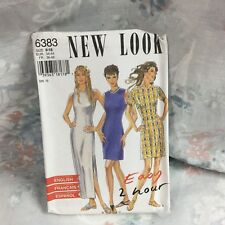 New Look 6383 maxi dress fitted wiggle vintage UNCUT sewing Pattern size 8-18