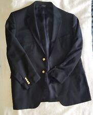 JoS. A. Bank Classical Traditional Fully Lined Blue Blazer; 46 Reg 100% Wool