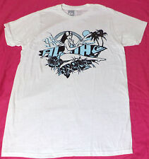 NWT Quiksilver ALOHA PIN UP Short Sleeve White Graphic T-Shirt SZ: LARGE  L1734