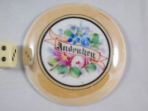 Antike Bierkrug Porzellaneinlage (1) für Zinndeckel um 1900 Porzellandeckel alt