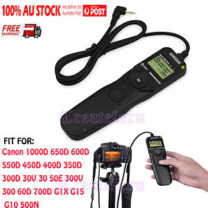 Time lapse intervalometer Timer Remote Shutter Release for Canon 600D/60D/G15 AU