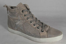 Women's Boots Leather Beige/Silver New
