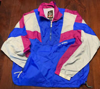 Vintage 90's USA Olympic Full Zip Windbreaker Jacket, Purple & Blue, Size L