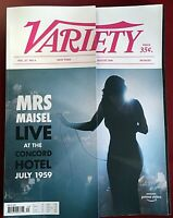 VARIETY MAGAZINE MAY 2019 VOLUME 2-MRS MAISEL LIVE AT THE CONCORD HOTEL