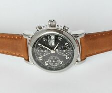 Montblanc Meisterstück 4810 Chronograph Automatic Uhr Ref 7016  Edelstahl