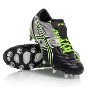 Asics Lethal Warno ST2 Soccer Shoes (9) Black / Grass / Silver