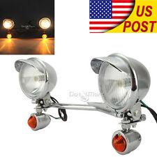 Passing Turn Signals Light Bar Fit Honda Shadow ACE 750 1100 VT1100C Chrome