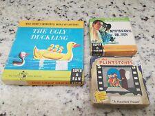 Ugly Duckling, Mysterious Dr. Syn Walt Disney Super 8mm Reel & Flintstones Film