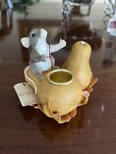 Charming Tails Candle Holder With Squash- Tip Broke On Squash See Pic