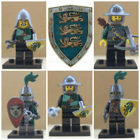 Castle Knights Soldiers Army City Super Hero Toy 5 X Mini Figures Use With lego