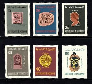 Tunisia stamps #486 - 491, MNHOG, XFS, complete set