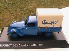 PEUGEOT 202 CAMIONNETTE 1947 BACHEE NOREV HACHETTE 1/43 MINIATURE