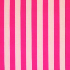 White & Pink Pirate Stripe Polycotton Fabric (Per Metre)