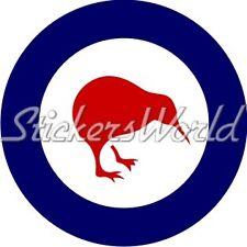 "Royal NEW ZEALAND Air Force RNZAF Aircraft Roundel Kiwi 100mm (4"") Sticker Decal"