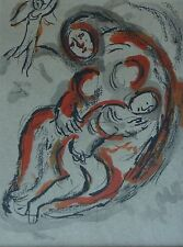"""MARC CHAGALL BIBLE """"Agar in the desert"""" HAND NUMBERED LITHOGRAPH M241"""