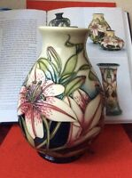 Moorcroft, Lilies Of The Fields, R. Bishop Reflections Of A Decade (2002) Mint