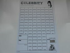 NAME THE CELEB 100 SPACE SCRATCH CARD X 1 ( B&W)=RAISE £50 EASILY!!  -