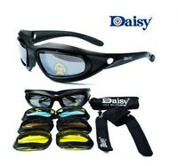 2 pairs DAISY C5 KIT - 4 Interchangeable Lens Harley Bobber Sunglasses