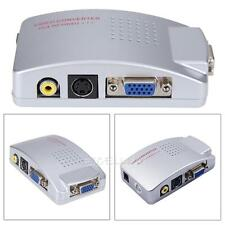 VGA à la TV RCA S-Vidéo Composite TV convertisseur adaptateur Signal Switch Box