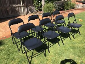 Folding Chairs x8 . Starting Price Is For The Lot