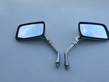 BRAND NEW CHROME E-MARKED RECTANGULAR Mirrors FOR HONDA CB750 1979 TO 1985