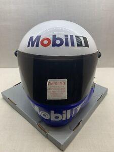 Vintage 1999 Mobil 1 Racing Nascar Prop Helmet Open Box / New