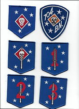 USMC RAIDER PATCH 6 PIECES  SET - 2 OLDER TYPE & 4  NEW TYPE