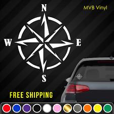 Compass Vinyl Decal Sticker   Nautical Navigation Car Truck Window Laptop 764