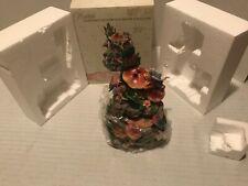"Table Top Fairy & mushroom butterflies Musical Water Fountain 8"" Mint in Box"