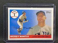 2007 Topps Mickey Mantle HR History #MHR1 NEW YORK YANKEES HOF GREAT!  HR #1!