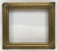 Antique Mid 19th C Gold Gilt Frame 6 x 7 Opening