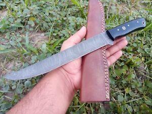 12'' Nest Custom Handmade Damascus Steel Hunting FILLET Knife horn handle 689