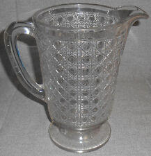 Circa 1885 McKEE PATTERN GLASS Cane Pattern TWO QUART PITCHER Victorian Era
