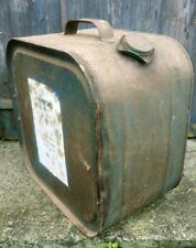 Old Metal Tin Can  Johnsons Industrial Floor Wax Shabby Table /  Lamp Up-cycle