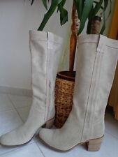 Manas Design Gr.39 NEU Damen Stiefel Stiefelleten Schuhe beige USED-LOOKhochwert
