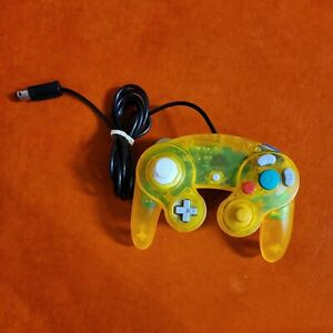 3rd Party Clear Yellow Wired Controller for Nintendo GameCube ~ Tested & Working