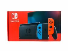Nintendo Switch Blue Neon Red Joy Cons Newest Model Improved Battery 32 GB New